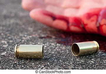 街道, 射擊, 人