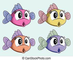 衝撃を与えられた, fish., わずかしか, 面白い