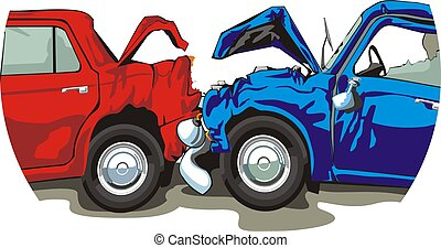 衝突される, 自動車