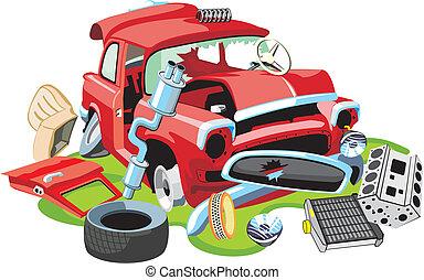 衝突される, 自動車, 古い