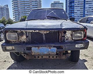 衝突される, este, punta, 駐車される, ウルグアイ, del, 自動車