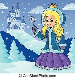 衣服, イメージ, 冬, 主題, 2, 王女