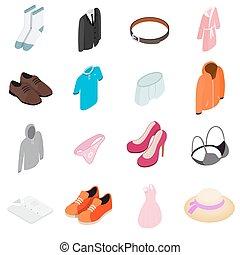 衣服, セット, アイコン