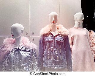 衣服, マネキン, shop.