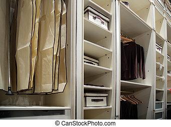 衣服, 在, 衣櫃