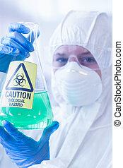 衣服, 科學家, 冒險, 保護, 化學制品, 燒瓶
