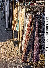衣服, 通り, セール