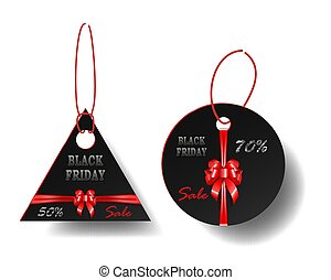 衣服, 销售, 折扣, 黑色红, 家具, 鞠躬, 带子, 方式, 销售, elements., 汽车, tags.,...