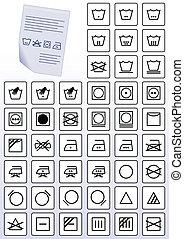 衣服, 關心, 指示, symbols.