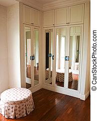 衣櫃, 內部, 背景, 反映, 反映