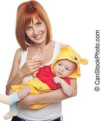 衣装, 面白い,  Redhead, 女, 子供