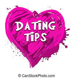 表すこと, 関係, デートする, アドバイス, イラスト, 先端, 3d