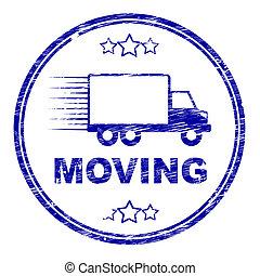 表す, 切手, 住宅, 可動のハウス, 貨物自動車, 変化しなさい