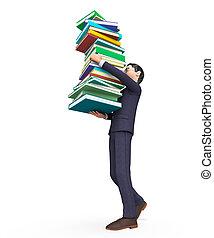 表す, 助け, 勉強, 届く, 教育, 本, ビジネスマン