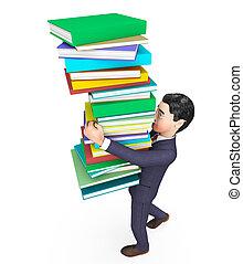 表す, 勉強, 取引しなさい, 届く, 本, ビジネスマン, 企業である