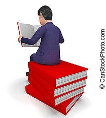 表す, 学校, 知識, 本, ビジネスマン, ビジネスマン, 読書