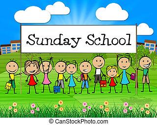 表す, 学校, 若者, 日曜日, 祈とう, 祈ること, 旗