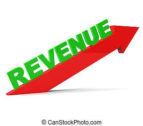 表す, 得なさい, 収入, 改善, 進みなさい, 増加