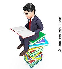 表す, 教育がある, faq, 本, ビジネスマン, ビジネスマン, 読書