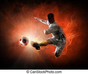 表演者, 足球