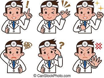 表現, の, 医者