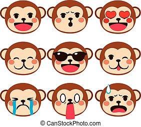 表現, サル, emoji