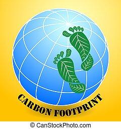 表示器, 二酸化物, 量, 測定, 足跡, 炭素, 合計