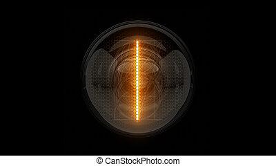 表示器, 表示器, nixie, digit., 3d, 3d., 1., チューブ, ディジット, ガス, 解任, one., lamps., レンダリング