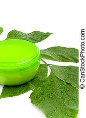 表面 クリーム, ∥で∥, 緑の葉