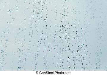 表面, 低下, 横, いくつか, 雨, 上に, 水晶, 背景
