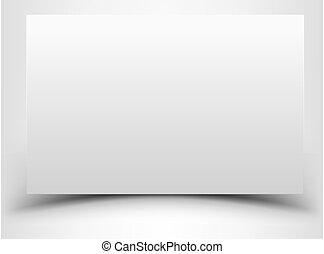 表, 紙, 白色, 空白, 陰影