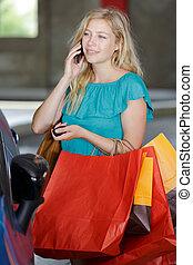 袋子, 妇女购物