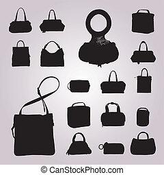 袋子, 收集, 矢量