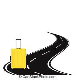 袋子, 旅行, 路, 插圖
