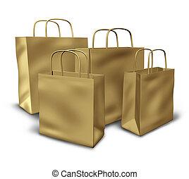袋子, 紙, 組, 布朗