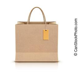 袋子, 纸, 购物