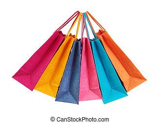 袋子, 購物, 鮮艷