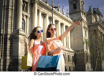 袋子, 购物, 妇女