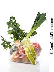 袋, ∥で∥, 野菜