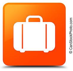 袋, アイコン, オレンジ正方形, ボタン