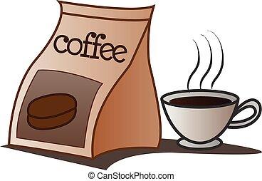 袋, コーヒー 飲み物