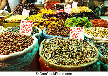 袋, ヒマワリ種, ナット, pistachio, 積み重ね