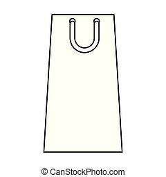 袋, ペーパー, 買い物, アイコン