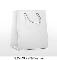 袋, ペーパー, 買い物, ブランク