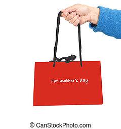 袋, 日, 贈り物, 母