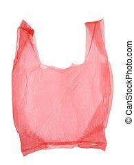 袋, 白, 隔離された, 背景, プラスチック