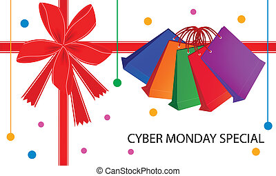 袋, 買い物, 月曜日, cyber, 特別, カード