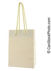 袋, 買い物, 隔離された, ペーパー, 背景, 白