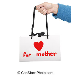 袋, 贈り物, 母