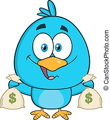 袋, 鳥, 保有物の お金